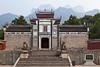 The Buddhist Temple along the Yangtze river at Sandouping, China, Asia.