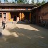 Drying corn in the courtyard