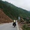 There was evidence of landslides all along the G323 highway