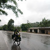We rode in the rain for the morning from Lincang (only the second day of rain in four months)