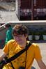 Yann on steps of Sun Tower
