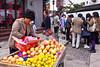 Outdoor market in the water village of Zhujiajiao, near Shanghai, China, Asia.