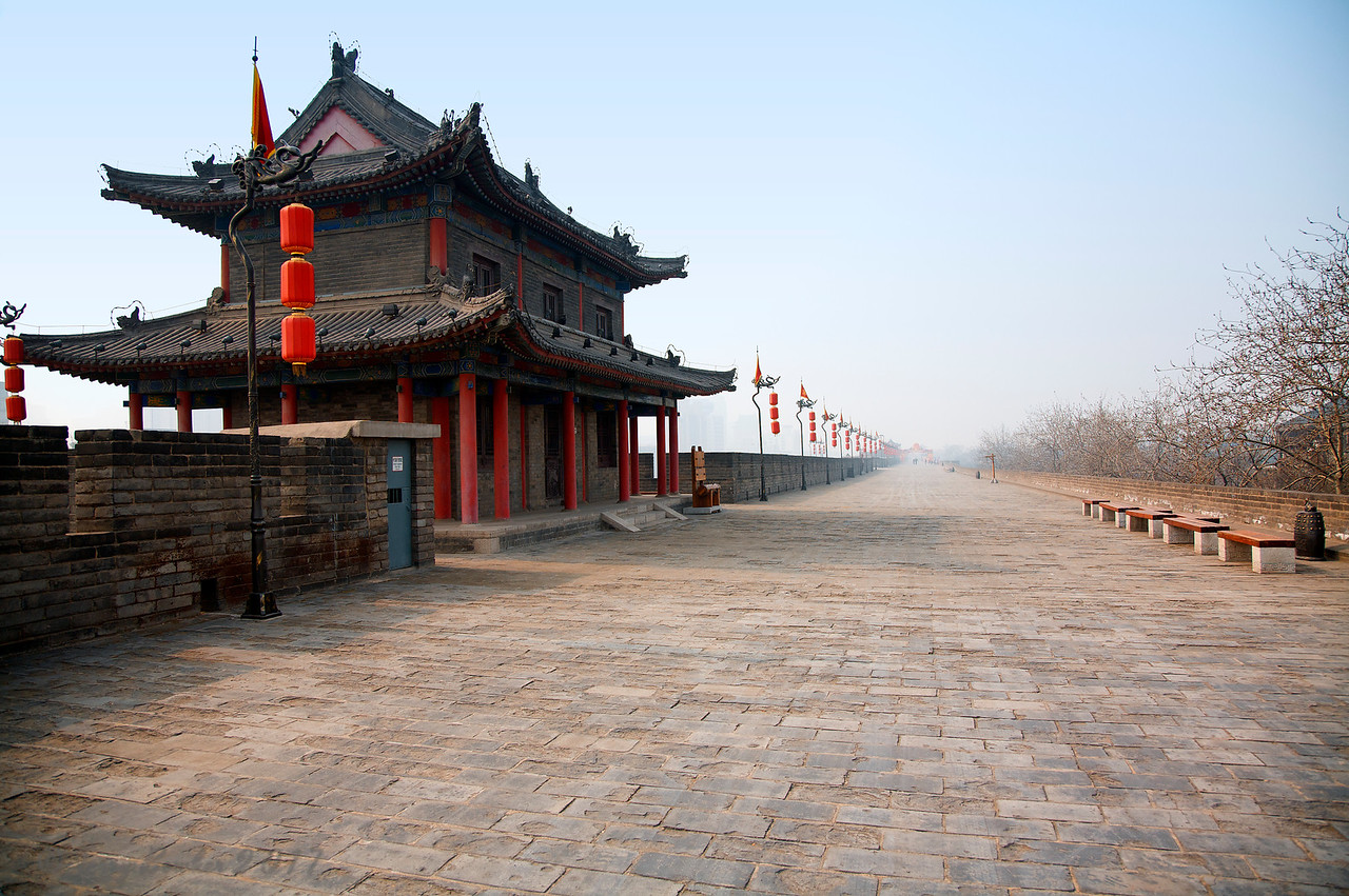 The City Wall of Xian is the most complete one that has survived in China, as well being one of the largest ancient military defensive systems in the world.