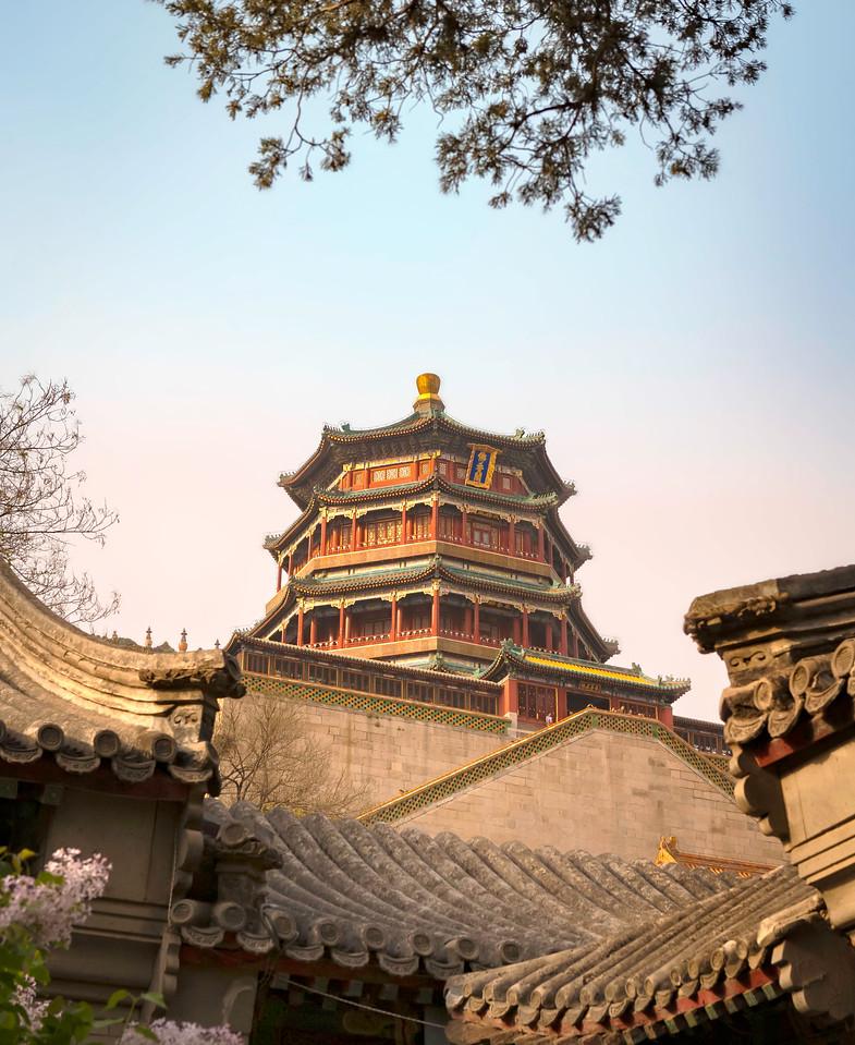 Summer Palace. Bell Tower. Beijing