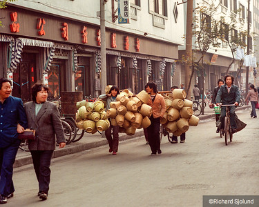 Delivering baskets in China 1988