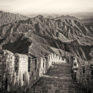 Great Wall. Sunset.