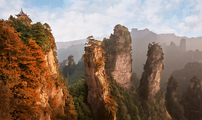"Indian Summer at Zhangjiajie. 25""x15"""