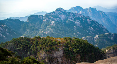 "Huangshan On a Clear Day. 27""x15"""