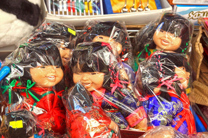 Wrapped dolls found in Stanley Markets, Hong Kong