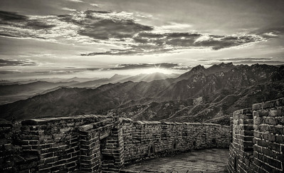 Great Wall. Last Sun Rays.
