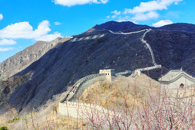 Great Wall With Passing Cloud