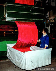 Silk factory in China 1988