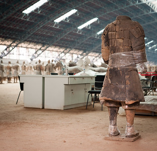 A Terracota Warrior awaits repair, Xian, China