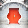 Curvy red Chinese door