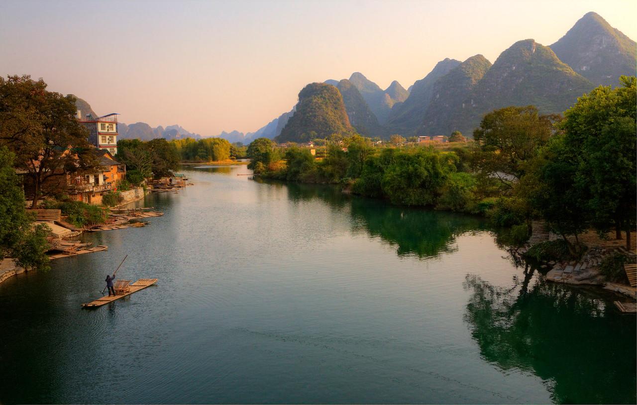 """Yangshuo. Yulong River. 22""""x16"""""""