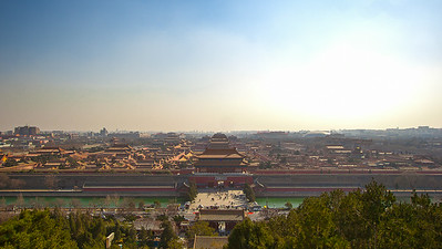 Forbidden City from Jingshan park.