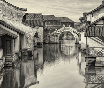 Wuzhen Water Village at Sunrise