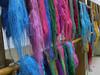 Samples of dyed silk.