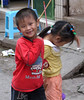 Kids being kids as they do anywhere.  The little girl was shy.