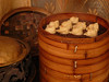 We ate many different kinds of steamed dumplings, each better than the last.  Yum.