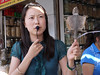 Helen explains how each ingredient is used.  But first, the patient gets a prescription from a Chinese doctor of traditional medicine, then takes the prescription to a traditional pharmacy.  The pharmacy gets its wares from this wholesale market.
