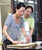 Our trip leader, Helen, is skilled at making dumplings, too.