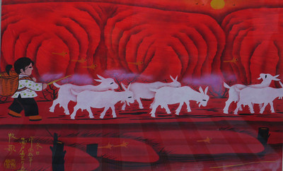 Painter in Painter Village: Huxian