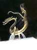 You gotta love this gold-plated bronze dragon.  He's about 15 inches high.