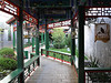 Scenic passageway between courtyards at the Soluxe Courtyard Hotel in Beijing.  Complete with birds who slept elsewhere at night.