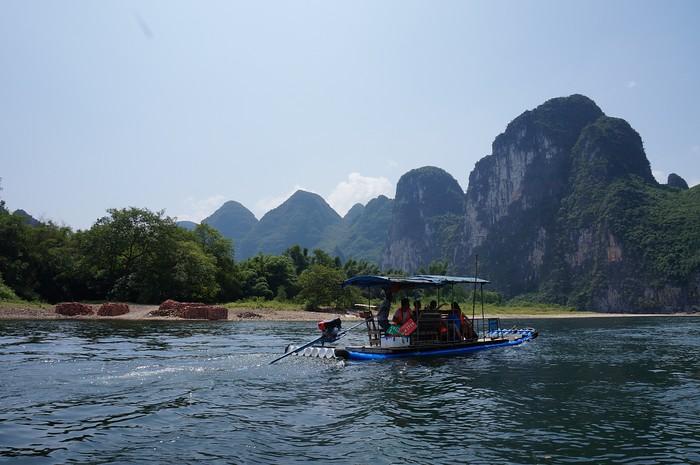 Enjoying an afternoon on the Li River.