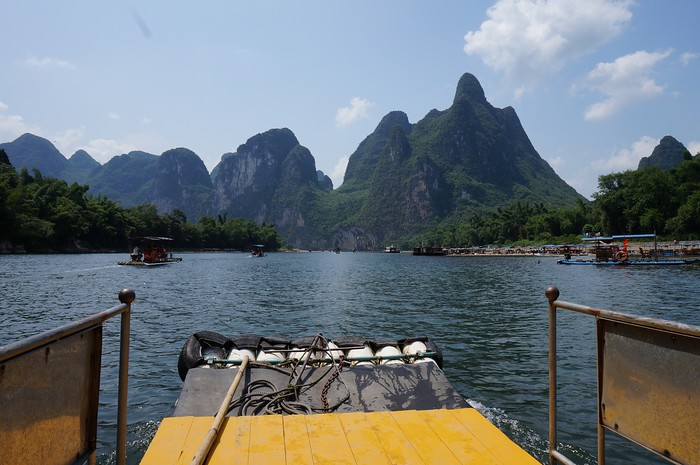 The journey down the Li River.