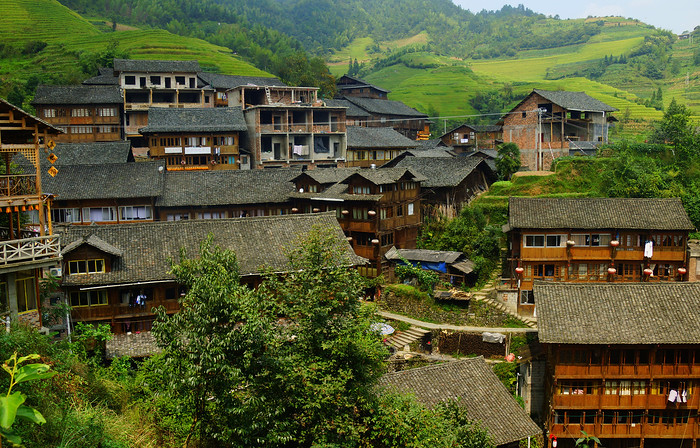 Longji Rice Terraces, a day trip from Guilin, China
