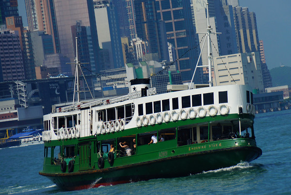 Star Ferry crossing Victoria Harbor