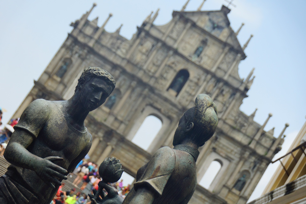 Ruins of Saint Paul's Cathedral in Macau, China