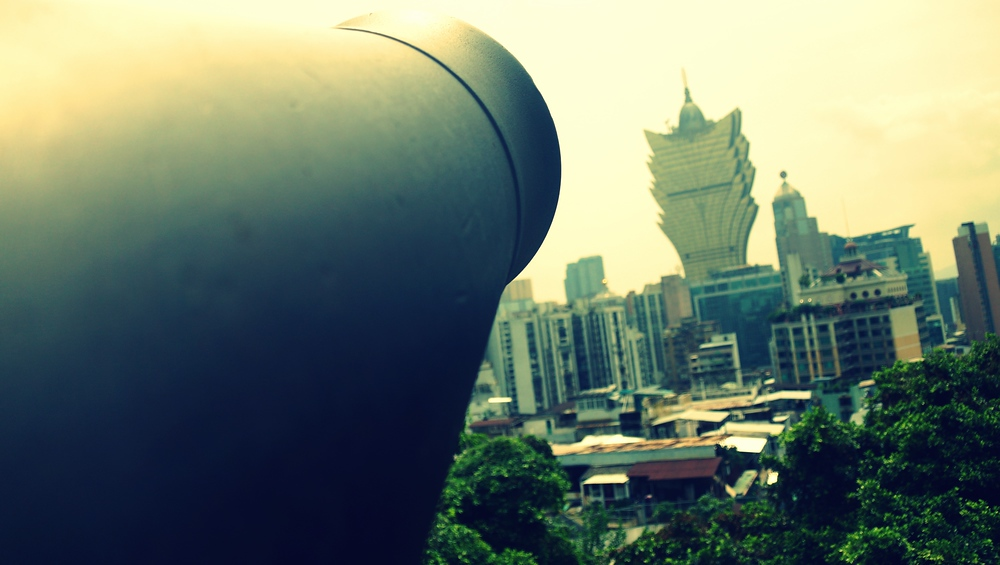 Canon on top of Mount Fortress overlooking the Grand Lisboa