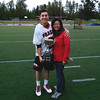 Matt and Donna Bailey  May 2014 Simon Fraser wins PNCLL trophy