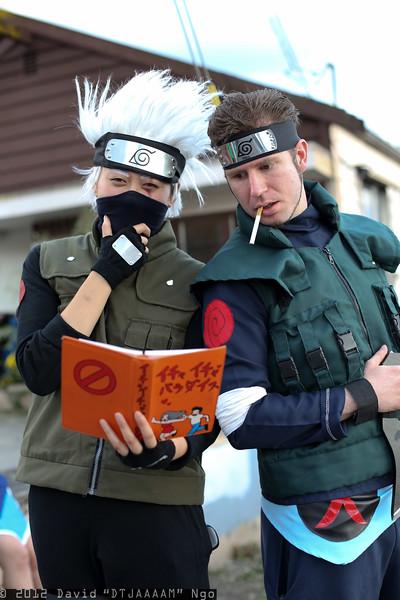 Kakashi Hatake and Asuma Sarutobi