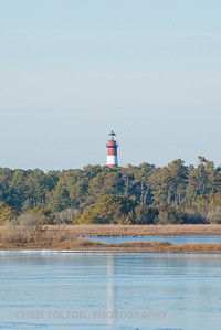 Assateague Light from the National Wildlife Refuge