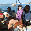On boat tour with Captain Ray (hot and tired, but the breeze feels good)<br /> Captain Dan's Boat Tours