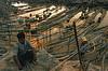 Camp de chercheurs d'or de Ma Sein. Rivière Chindwin/Région de Sagaing/Birmanie (Myanmar)