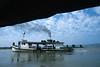 Bateau remontant la rivière Chindwin. Région de Sagaing/Birmanie (Myanmar)