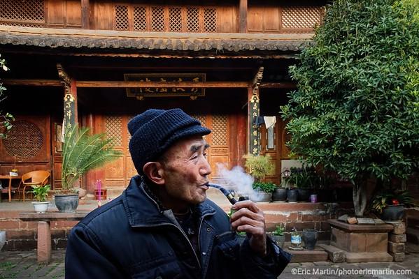 CHINE. ROUTE DU THÉ. YUNNAN.  Le village de Shaxi est un ancien carrefour commercial de la route du thé et des chevaux qui reliait le Tibet au sud du Yunnan