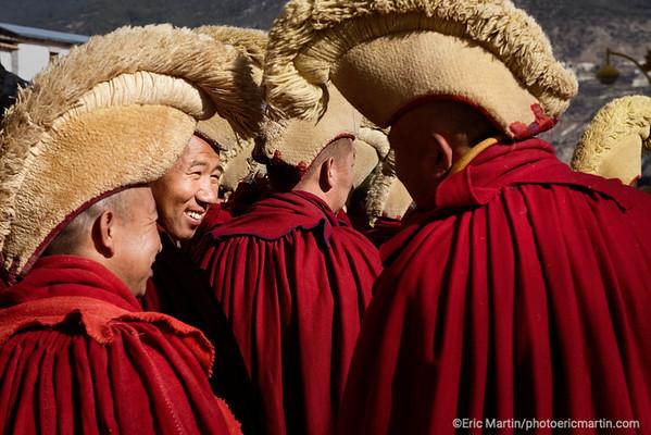 CHINE. ROUTE DU THÉ. YUNNAN.  Monastère tibétain de Dongzhulin à Benzilan