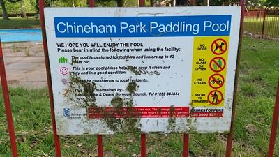 Chineham Park Paddling Pool 2015.