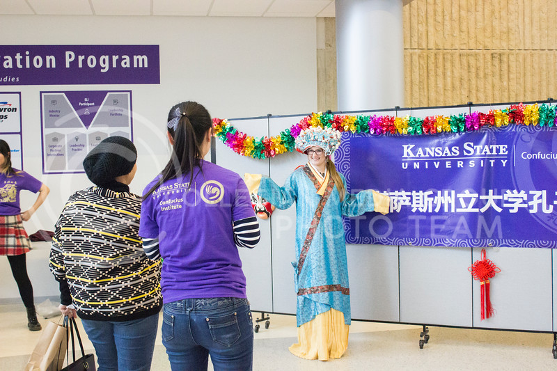 A photo booth opportunity is present at the Chinese culture fair at Fiedler Hall on Jan. 28th, 2017. ( Kelly Pham | The Collegian)
