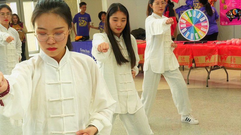 Traditional Dances were one of the activities provided to the public during the Chinese Culture Fair held this Saturday, Feb 9, 2019 at KSU (Gabriela Faraone | Collegian Media Group)