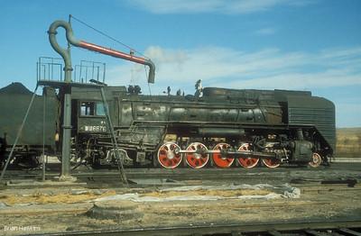 QJ 6576 Daban locomotive depot. 20th October 1999