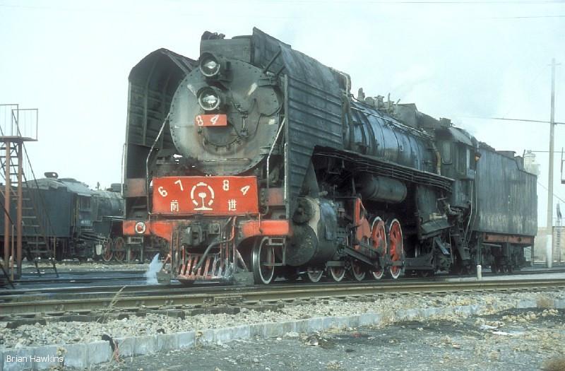 QJ 6784 Dongsheng locomotive depot. 1st November 2001