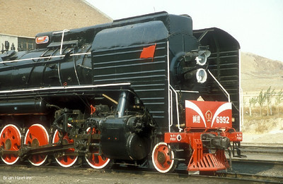 QJ 6992 Daban locomotive depot. 25th September 2002