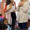 Lynn, Ma. 9-18-17. Chinese principal Sophia Han, left, talks with KIPP kingarten teacher Miss Kelsey Mullen,right, during the tour of KIPP.